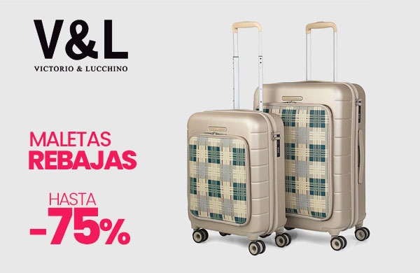 Rebajas Maletas Victorio y Lucchino con envío gratis en modalia.com