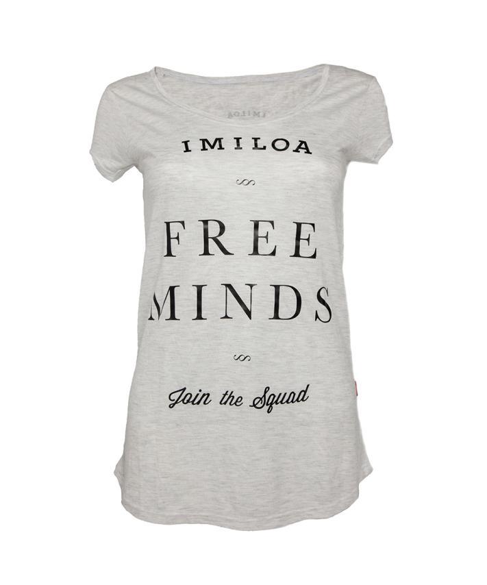 Imiloa Camiseta Free Minds Gris-M021
