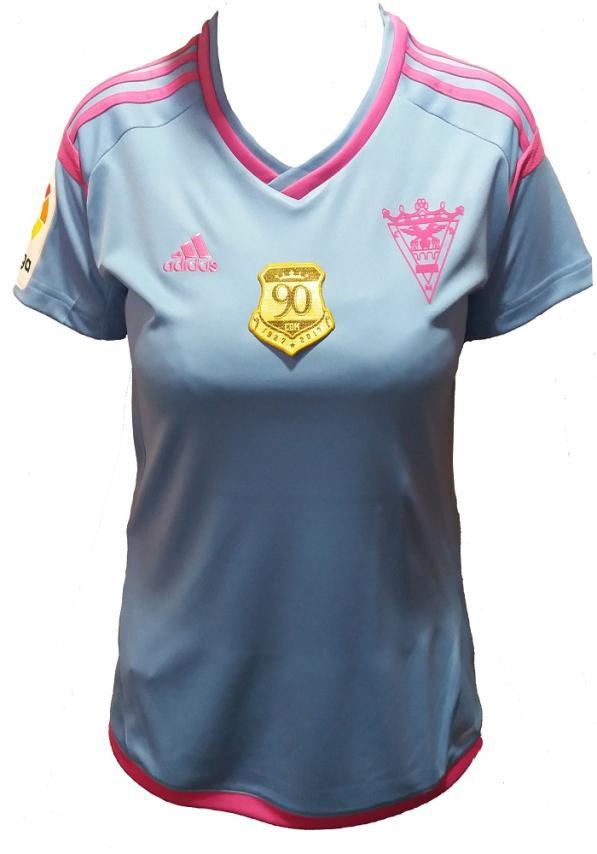 C.d. Mirandes Camiseta Oficial Adidas Celeste Mujer 2016/2017