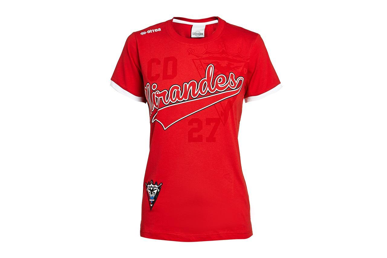 C.d. Mirandes Camiseta Roja Mujer 13/14