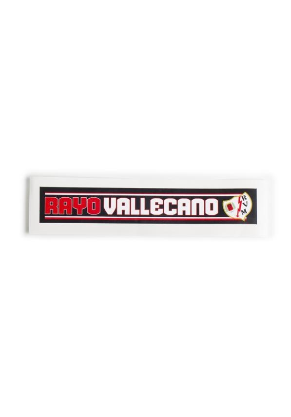 Rayo Vallecano Pegatina Horizontal  Rayo Vallecano 12x2