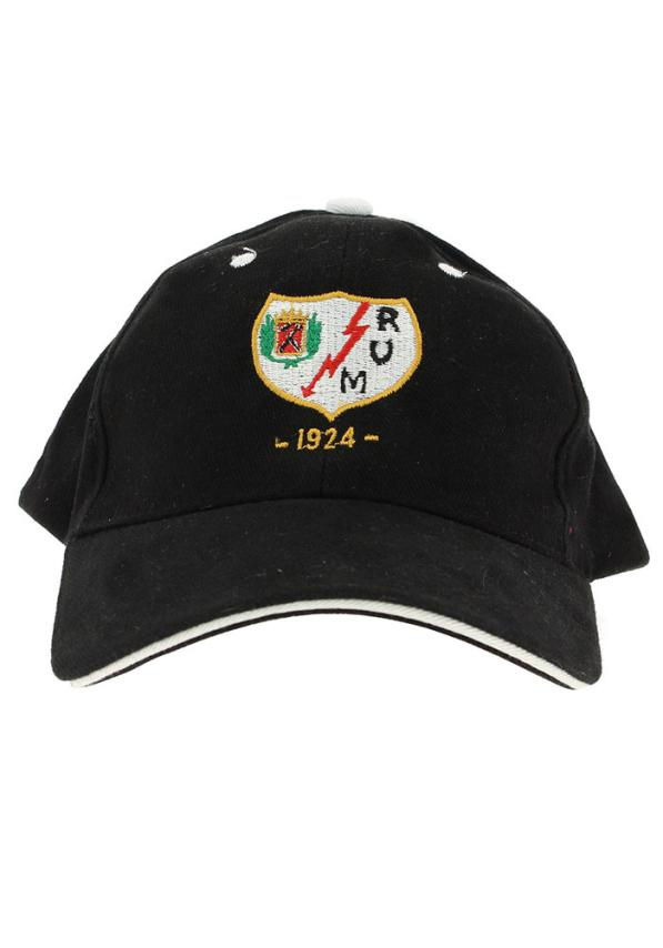 Rayo Vallecano Gorra Negra Adulto